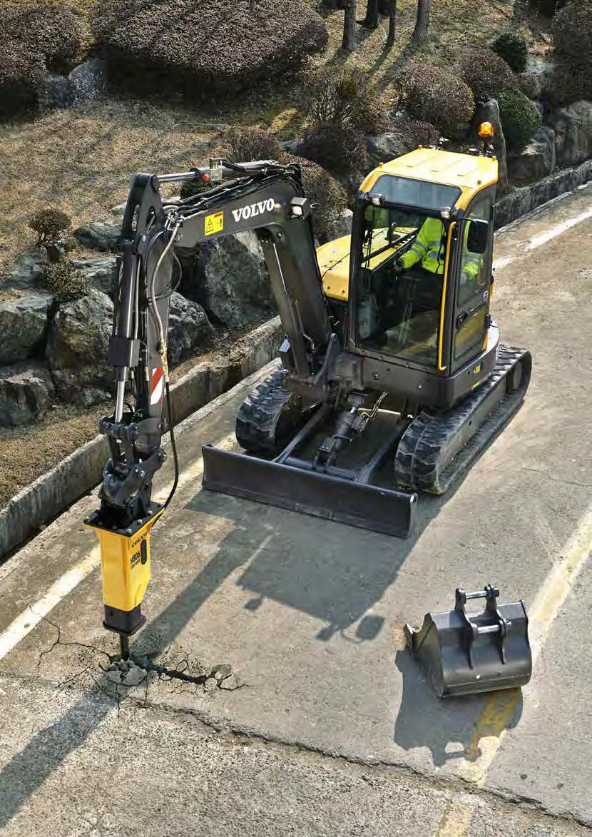 Hydraulic breakers Volvo s durable hydraulic breakers have been designed for ultimate compatibility with Volvo excavators.