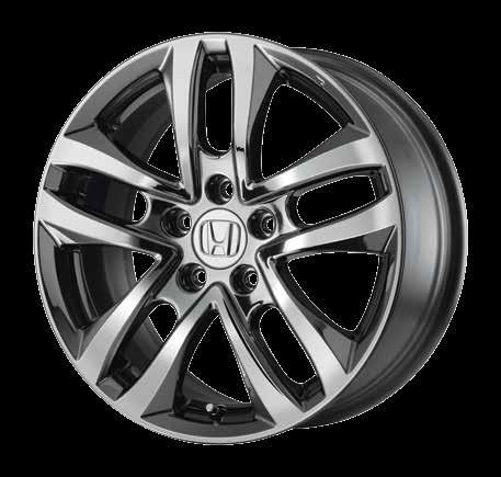 "19"" ALLOY WHEEL, SBC HFP diamond-cut aluminum-alloy wheel Stringently tested to meet all Honda specifications Hub-centric design with correctly matched offset"