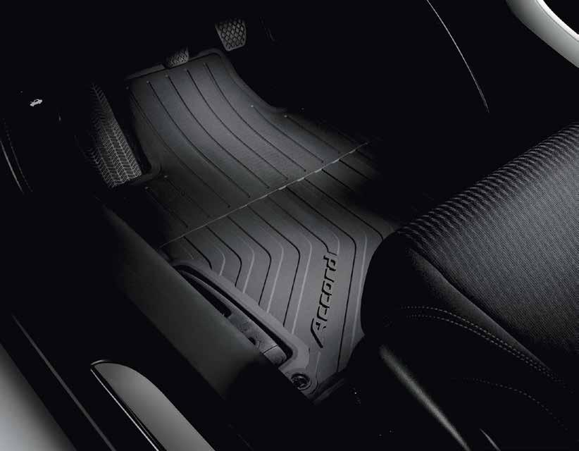 2015 ACCORD COUPE INTERIOR ACCESSORIES ALL-SEASON FLOOR MATS Includes custom-fit front and rear mats with high edges and deep water-retaining ridges for maximum protection Preserves your vehicle s