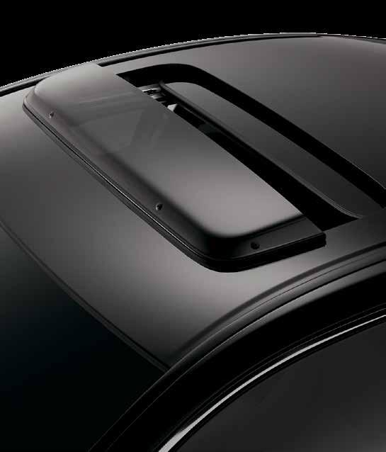springs easily hold the trunk lid up when opened BODY SIDE MOLDING
