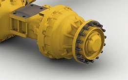 Axles: Volvo fully floating axle shafts with planetary hub reductions and cast steel axle housing. Fixed front axle and oscillating rear axle. % differential lock on the front axle.