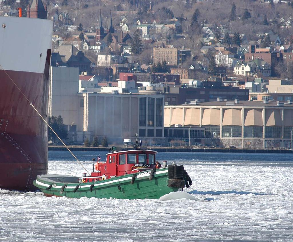 ICE BREAKING The Great Lakes Towing Company s tugs are available to perform commercial ice breaking services during the winter months of the Great Lakes Navigating season.