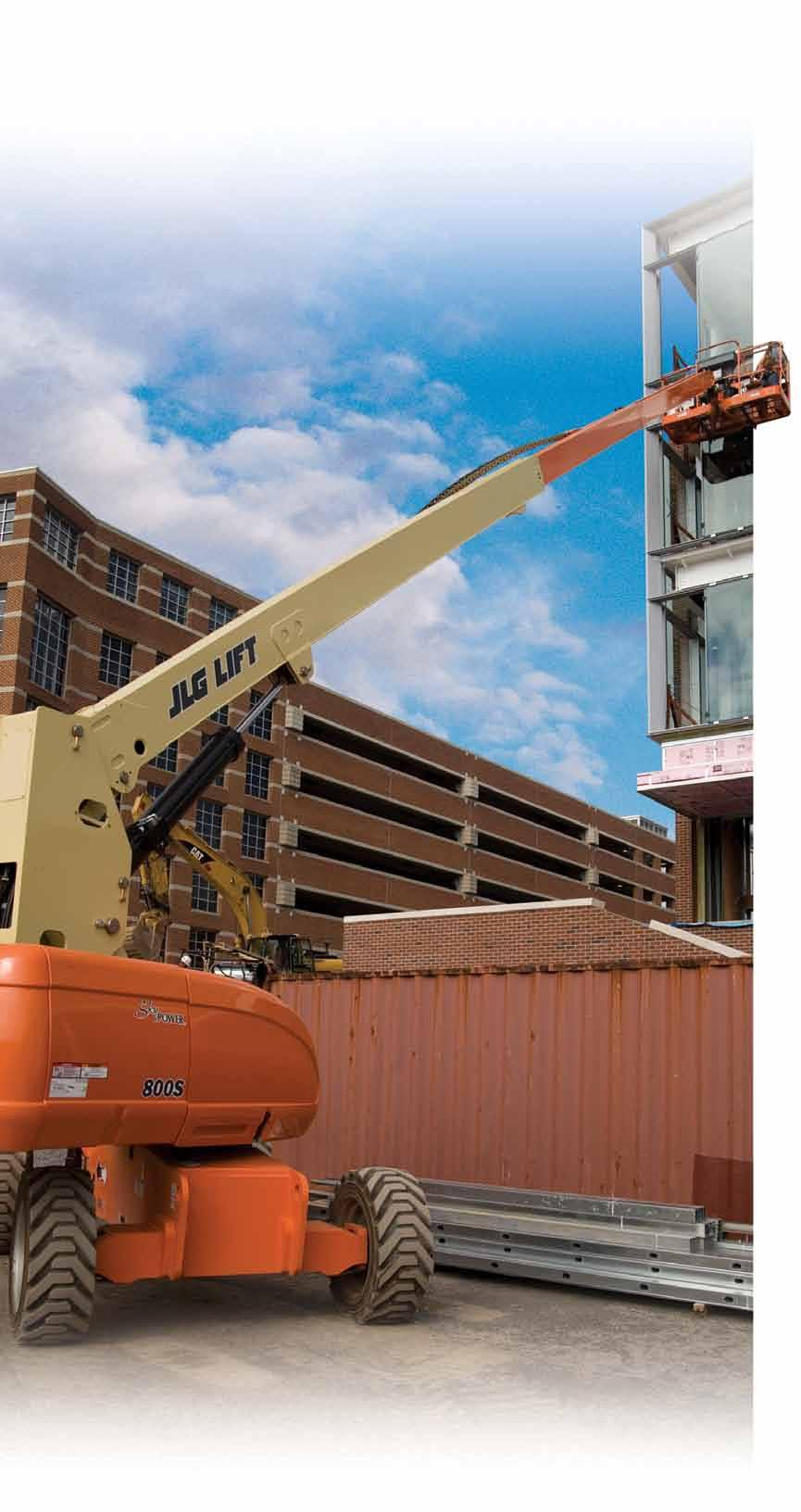 800 Series Telescopic Boom Lifts Higher Reach. Confident Control. Spend your time getting your work done. Go from the ground to 80 ft in less than 67 seconds that s 40% faster than the competition.