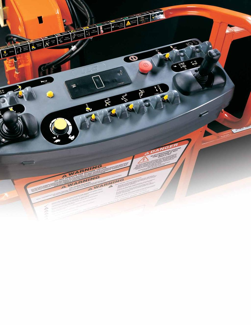 Control ADE System JLG s Exclusive Advanced Design Electronics (Control ADE) System helps optimize productivity while