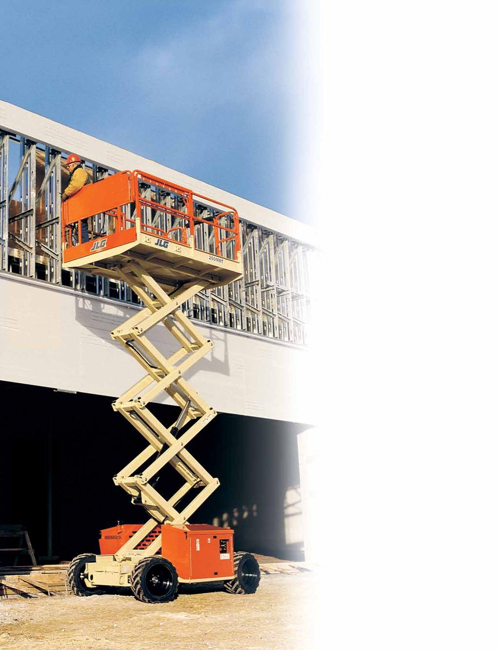 Model 260MRT Mini Rough Terrain Scissor Lifts Narrow Design. Easy Mobility.