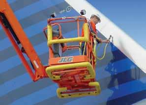The optional Soft Touch System reduces the risk of accidental contact and damage during aircraft maintenance. This optional package features a suspended padded rail that surrounds the platform basket.