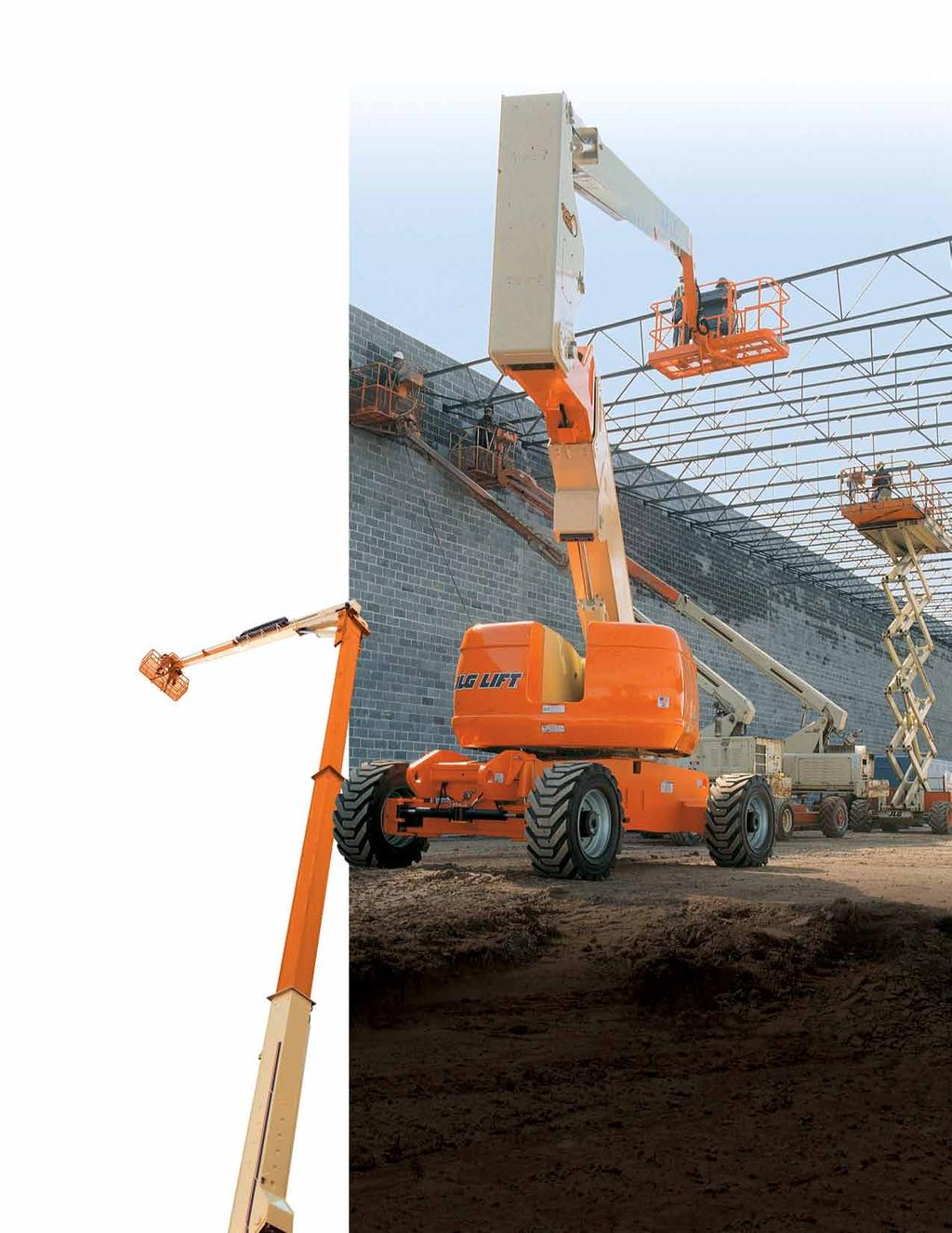 800 Series and Model 150HAX ARTicuLATinG BOOM LifTS Improved Performance from the Ground Up. You can reach higher and get to your work faster with the 800 Series.