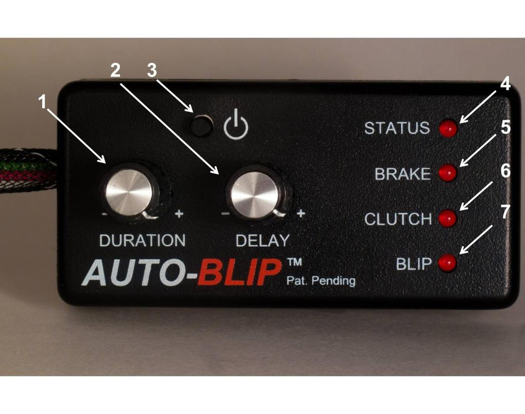 HOW IT WORKS 1. The DURATION dial sets the desirable RPM blip level by opening the throttle. Turn dial clockwise to increase RPM blip level. 2.