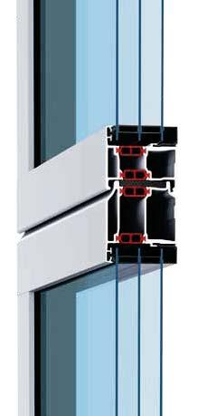 NEW 67 mm thermal profiles with thermal break 42 mm standard profile 42 mm S-Line profile 42 mm Thermo profile 67 mm Thermo profile Glazed aluminium doors in 4 profile types and 2