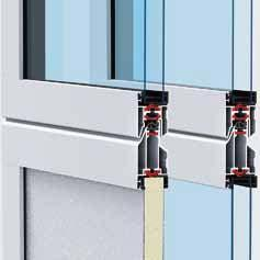Up to 55 % improved thermal insulation: ALR 67 Thermo with climatic glazing and ThermoFrame The best thermal insulation For ALR F42 Thermo and ALR 67 Thermo, the aluminium profiles have a thermal