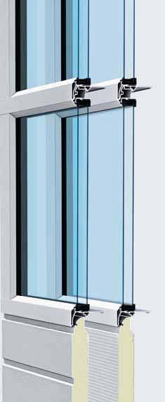 Glazed aluminium doors with invisible section transitions APU F42 S-Line The combination of narrow glazing beads and a robust bottom section let a lot of light into the building, offering the