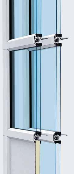 The door can be optimally integrated into modern glass facades, barely distinguishable from fixed glass elements. Door type APU F42 S-Line ALR F42 S-Line Door size Max.