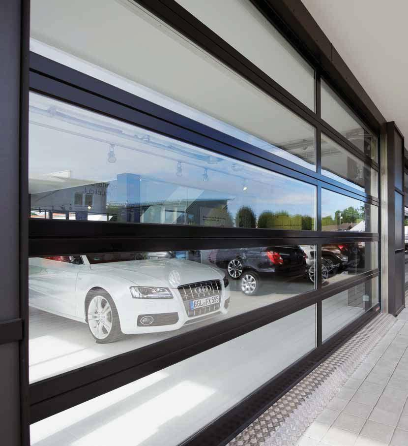 ALR F42 Glazing, ALR 67 Thermo Glazing ALR F42 Vitraplan Exclusively glazed aluminium doors Car showrooms Thanks to