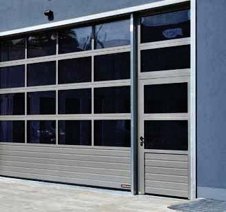 Side door equipment Aluminium extrusions anodised according to DIN 17611, 60 mm, surface anodised in natural colour E6 / C0 (previously E6 / EV 1) As standard with all-round seals made of