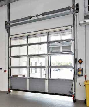 APU F42 in Grey aluminium, RAL 9007 Door leaf reinforcements** and