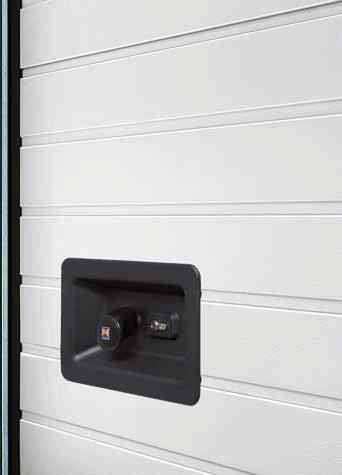 The door handle Standard security Lock operation from outside With the handle set, the door lock can be ergonomically operated from outside.