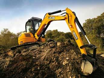 Build quality 801 range and 8020 CTS tubular boom is lighter and stronger than a flat design 801 CTS and 8020 CTS excavators 3mm pressed steel rear engine bonnet protects against inevitable impacts