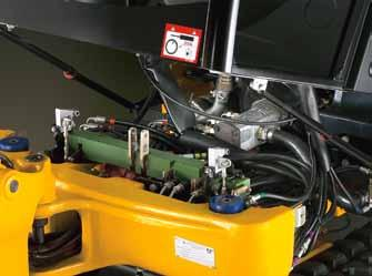 access hose connection point under cab floor makes replacing hoses simpler In direct response to customer requests, all JCB mini excavators now boast unrivalled access for easier servicing, along