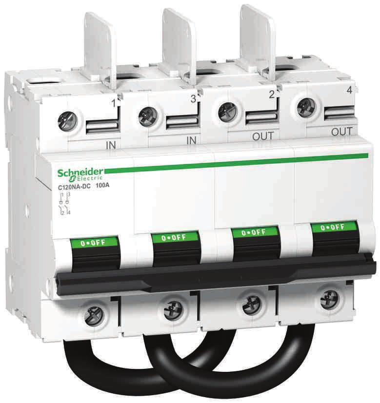 DC main switch for photovoltaic installations e IEC / EN 60947-3 PB113148-50 The is a direct current switch-disconnector dedicated to disconnection of the string of photovoltaic modules and the PV