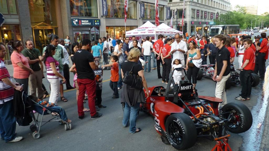 The Events Our electric formula car receives a significant amount of exposure.