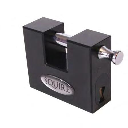 Container Security Squire Squire together with C&J Supplies has released the above padlock specifically for shipping containers, designed to fit within the front mounted lockbox.
