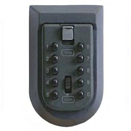 Easy to fit All required fixings included Set your own code Model: Body Height Body Width Body Depth Comsafe KeyKeeper 115mm