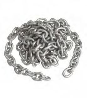 Chains 8mm - 16mm Close link security chain to resist sawing and bolt cropping.