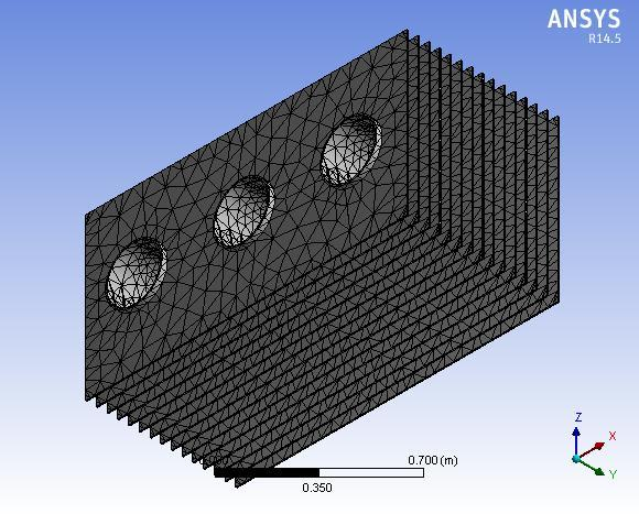 2. MODELLING AND THERMAL ANALYSIS OF RECTANGULAR AND LOUVERED FIN Geometrical model of rectangular fin and louvered fin are modeled with creo parametric 2.