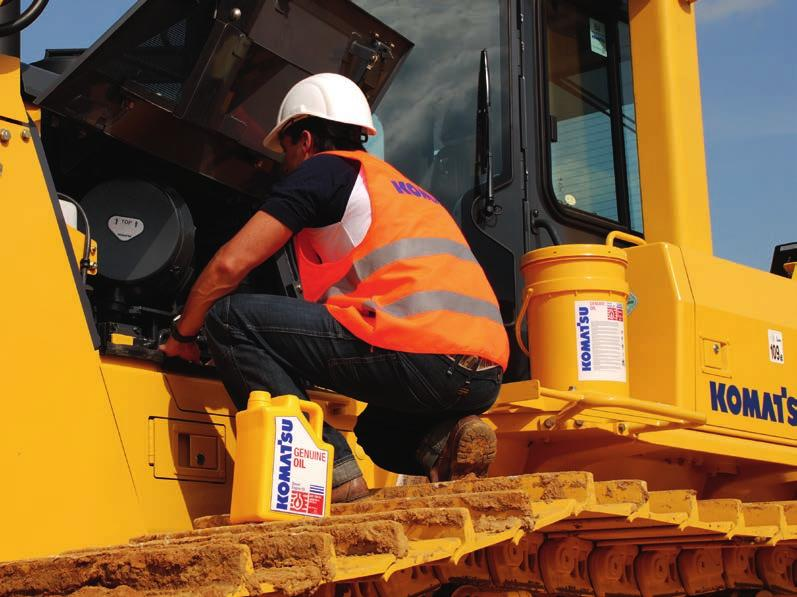 Lubricants & Coolant Superior protection Komatsu Genuine Lubricants & Coolant Diesel Engine Oil