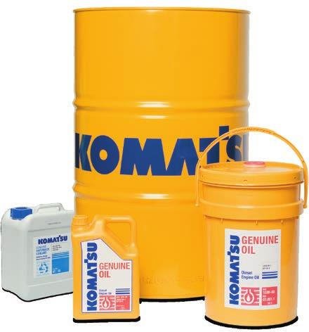 Superior Protection A full range of Genuine Komatsu Lubricants Komatsu Genuine lubricants are the only oils specifically formulated to meet the high Komatsu Engineering Standard (KES).