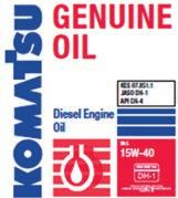 The KES concept The table below illustrates how KES is applied to Komatsu Genuine diesel engine oil to not only meet all standards like API CD, JASO DH-1/DH-2, and also surpass them with added