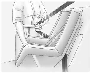 You will be using the lap-shoulder belt to secure the child restraint in this position. Follow the instructions that came with the child restraint. 1.
