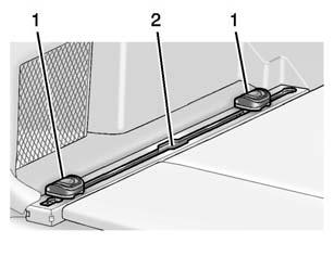 Turn the bottom of the fence up and insert it into the upper two clips (2). D-Ring Sliders For vehicles with a D-ring system, there are four D-ring sliders that move along rails.