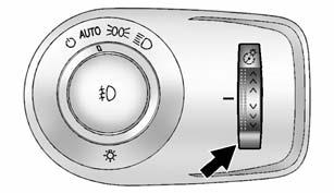 An indicator light on the instrument cluster comes on when the fog lamps are on. The fog lamps come on together with the parking lamps.