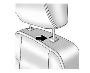 Pull and push on the head restraint after the button is released to make sure that it is locked in place. The front seat outboard head restraints are not designed to be removed.
