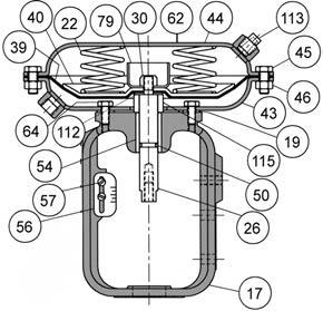 Baumann Pneumatic Actuators Instruction Manual Figure 4. Baumann 32 Actuator, Air-to-Retract (ATR) Figure 5. Baumann 32 Actuator, Air-to-Extend (ATE) E1302 E1303 Table 4.