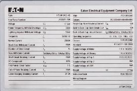 5.3 Nameplate Compare the circuit breaker nameplate information with technical data in the technical parameters sections 2.4, 2.5 or 2.6.