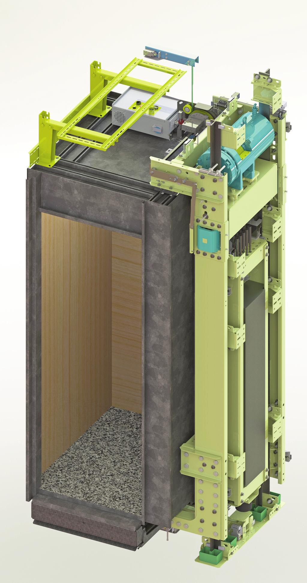 ADVANCED FEATURES WITTUR SOLUTION FOR MODERNISATION The, Wittur flexible machine roomless electric lift, offers an ideal solution for new lifts in existing buildings based on an innovative modular