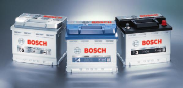Bosch S3-S4-S5 batteries with PowerFrame technology Up to 30 % longer service