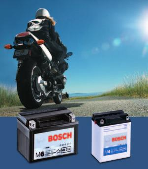 Reliable and powerful starting: Bosch M4 and M6 batteries All Bosch M4 and M6 batteries come complete with an acid pack and filling aid.