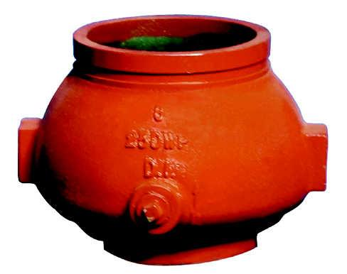 pproved. Model: SD-NRV250CVG Grooved Ends The Check Valve are made from Ductile Iron Body, Vertical swing type dual plate made of cast bronze, EPDM plate seal, painted with standard color.