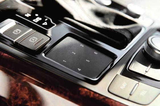 telephone functions. The A7 also features the all-new, optional Audi heads-up display.