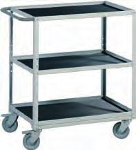 Lower shelf is integrated. Height adjustment with allen key between 690-990 mm. 2. Storage trolley Trolleys for additional workspace ESD 1.
