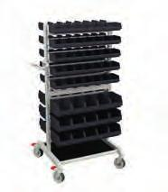 150 300 90 Adjustable trolley TRTA Mobile workstation MLC Storage trolley For general use wherever a good