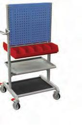 Basic trolley Equip your trolleys with shelves, tops and other accessories to fit any