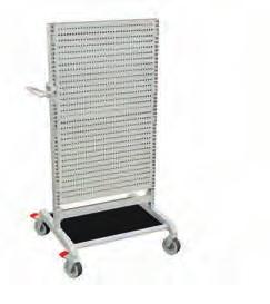 trolley accessories Bottom shelf with rubber mat Bottom shelf with HDPE plastic covering