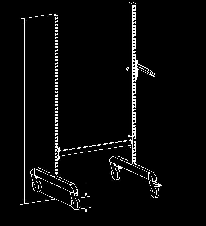 dimensions : 860 310-35 width 240 mm, Ø 230 mm) Basic trolley 3 Basic trolley 4 M750