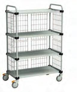 TRTA4104 ESD 4-shelf trolley** 1090 x 630 x 1515 1000 x 530 300 TRTA5104 TRTA5104 ESD * Shelf adjustments between 200-770 mm ** Shelf adjustments between 200-1340 mm Extra shelves TRHA Shelf size ESD