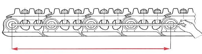 after installing a new undercarriage, then check position of the track guards is not too close to the chain LOOSE PINS n If there is no obvious fault