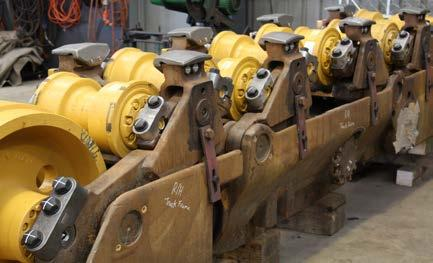 UNDERCARRIAGE PROJECTS D10T Dozer track change out Recently completed refurbishment for a D10T bulldozer, fitted with our